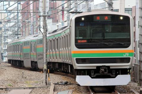 【JR東】E231系1000番代ヤマU590編成 東京総合車両センター入場
