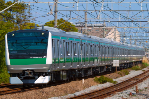【JR東】E233系7000番代ハエ103編成 国府津へ回送