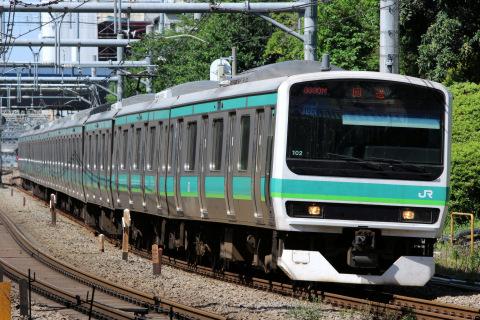 【JR東】E231系マト102編成 東京総合車両センター入場