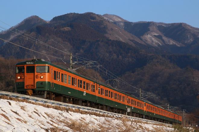 【JR東】吾妻線霜取り列車を115系7連が代走