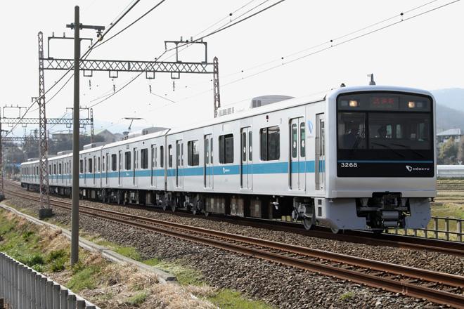 【小田急】3000形3268F出場試運転