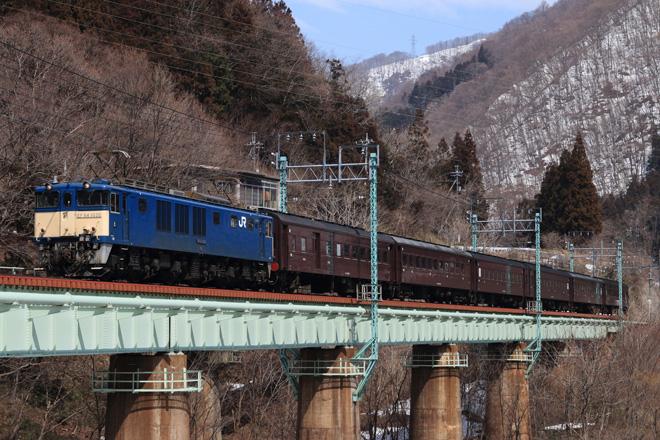【JR東】旧型客車6両が高崎へ回送される