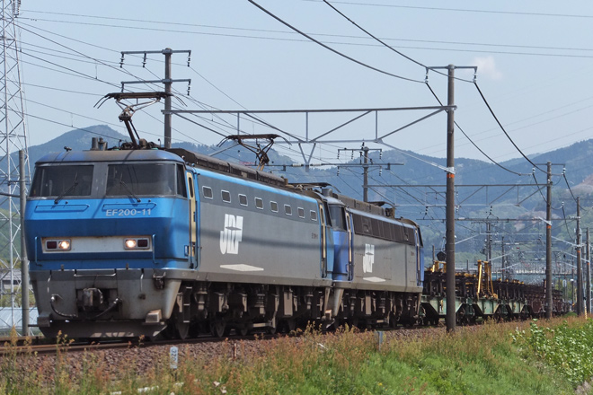 【JR貨】EF200-11牽引8865レでEF200-5無動力回送
