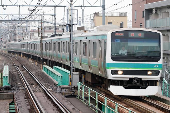 【JR東】E231系マト111編成東京総合車両センター入場