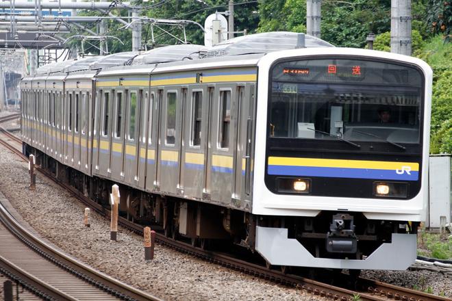 【JR東】209系C614編成大宮総合車両センター出場