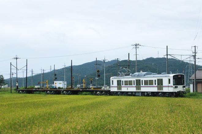 【近江】220形+チ10形によるレール輸送