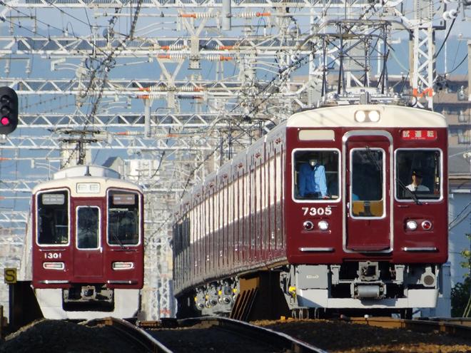 【阪急】7300系リニューアル編成7305F試運転