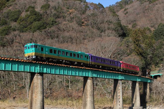 【JR東】キハ40・48形ふるさと水郡線入線