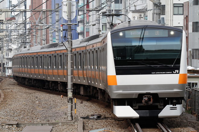 【JR東】E233系T21編成東京総合車両センター入場
