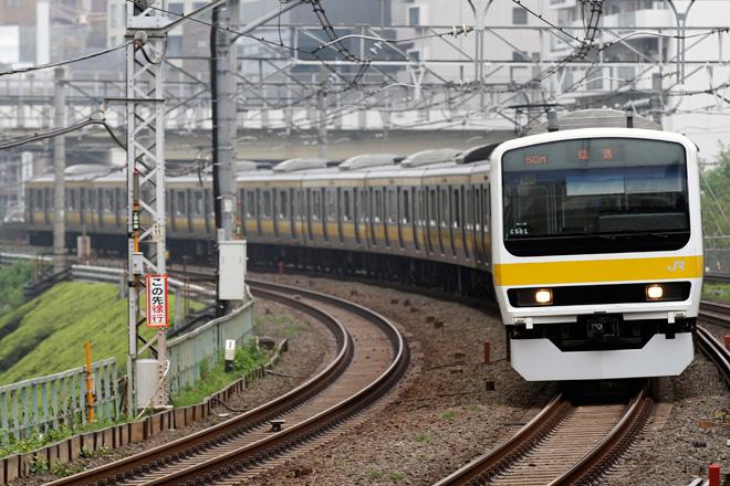 【JR東】209系ミツC501編成 東京総合車両センター入場