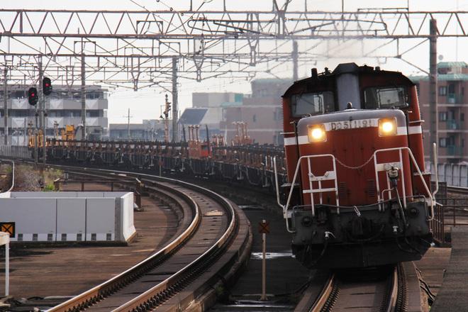【JR西】DD51-1191牽引南福井工臨返空運転