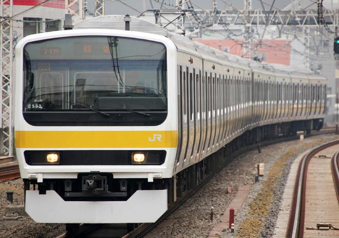 【JR東】209系500番台ミツC502編成 東京総合車両センター出場