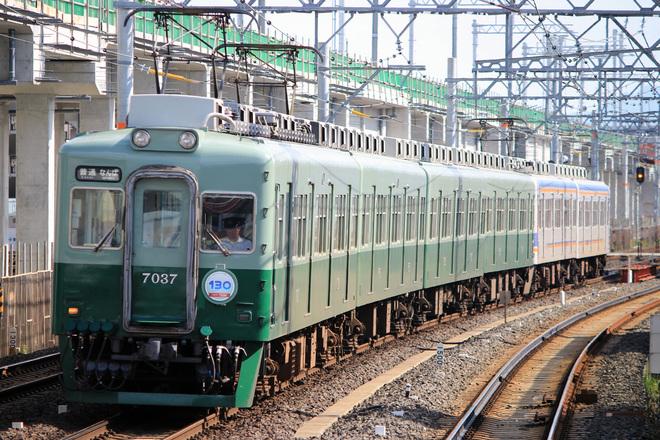 【南海】創業130周年記念旧塗装7000系と10000系が個別運用に