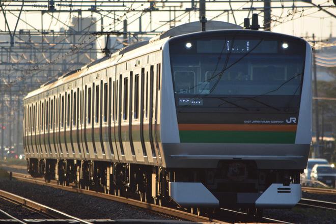 【JR東】E233系E-71編成による「湘南ひまわり号」運転