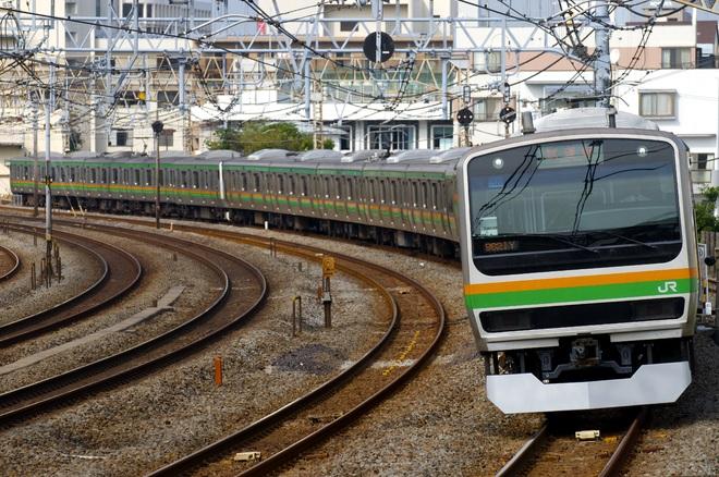 【JR東】E231系U520編成(機器更新車)+E233系U234編成試運転
