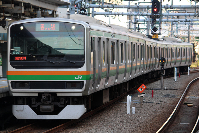 【JR東】E231系コツS-20編成 東京総合車両センター入場
