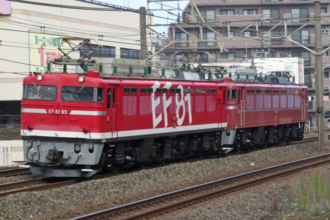 【JR東】EF81-95牽引でEF81-81田端運転所へ返却