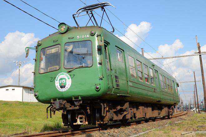 【熊電】5000系5101A に引退記念HM