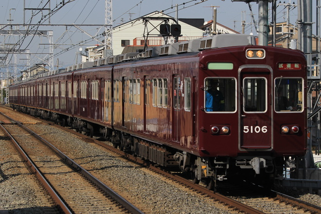 【阪急】5100系 5106F+5116F+5122F出場試運転