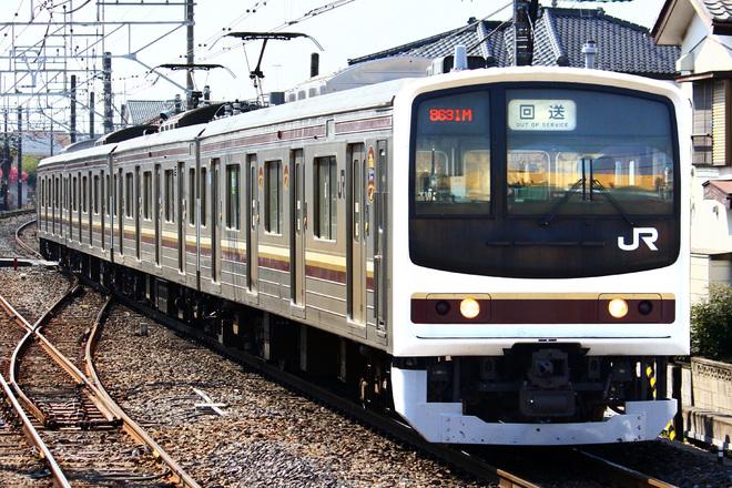 【JR東】205系Y10編成(線路モニタリング装置取付)大宮総合車両センター出場