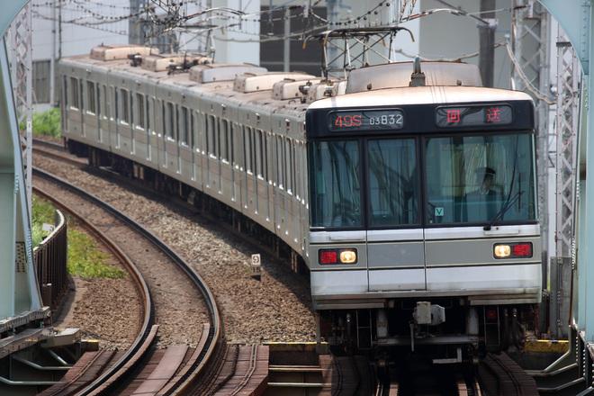 【メトロ】03系03‐132F PQ軸取付 鷺沼出場回送