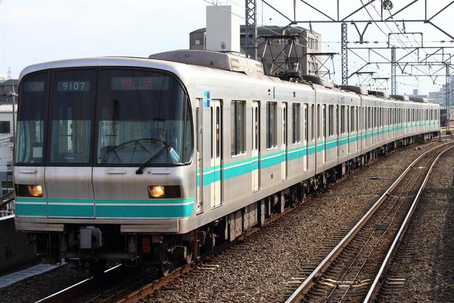 【メトロ】9000系9107F 綾瀬工場入場
