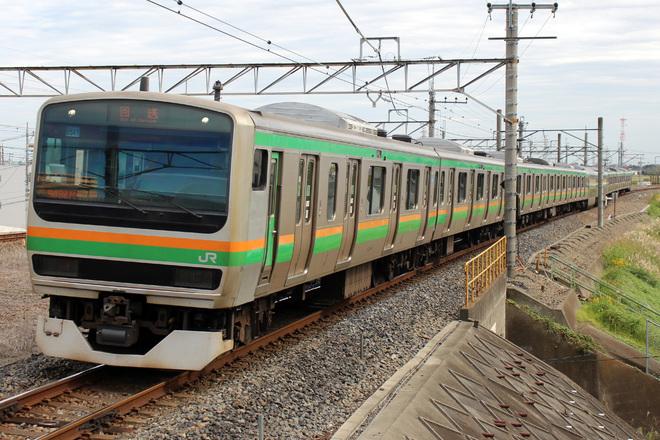 【JR東】E231系小山車 団体臨時列車で京葉線へ