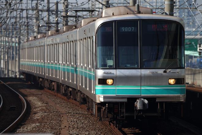 【メトロ】9000系9107F新木場車両基地へ入場