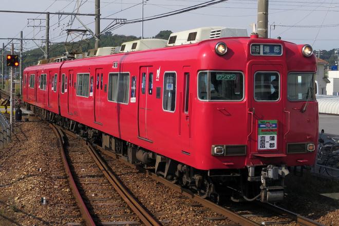 【名鉄】6000系 蒲郡線全線開業80周年記念の系統板 掲出