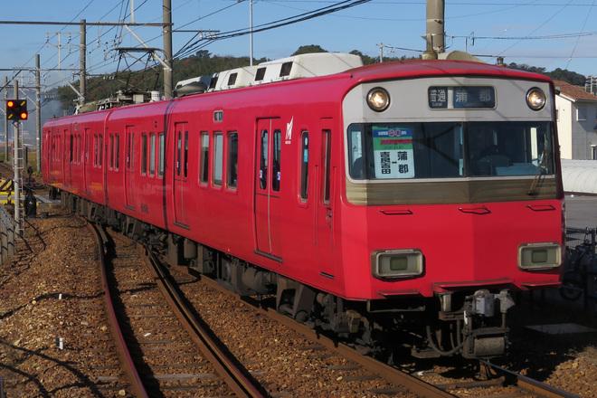 【名鉄】6800系に蒲郡線全線開業80周年記念の系統板 掲出