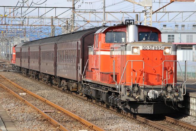 【JR東】DD51+旧型客車5両 八高線ハンドル訓練実施