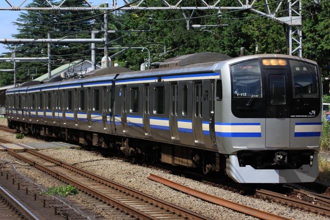 【JR東】E217系クラY-112編成 東京総合車両センター入場