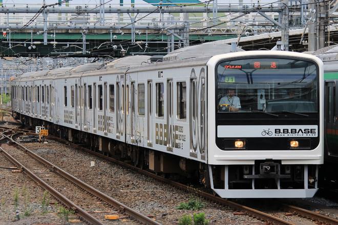 【JR東】209系マリJ1編成『B.B.BASE』 大宮総合車両センター出場