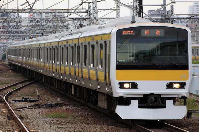 【JR東日本】E231系ミツA520編成東京総合車両センター出場