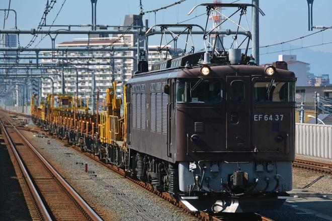 【JR東】EF64-37牽引松本工臨返空