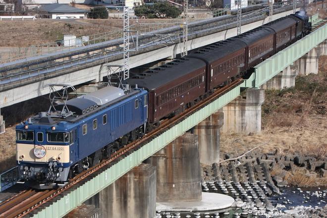 【JR東】EF64-1001牽引「ELレトロ碓氷号」運転