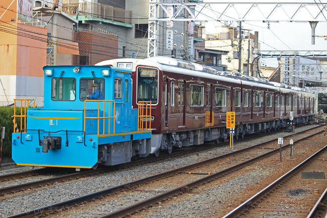 【阪急】1000系1013F 搬入