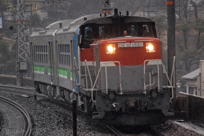 【JR北】H100形H100-1+H100-2甲種輸送