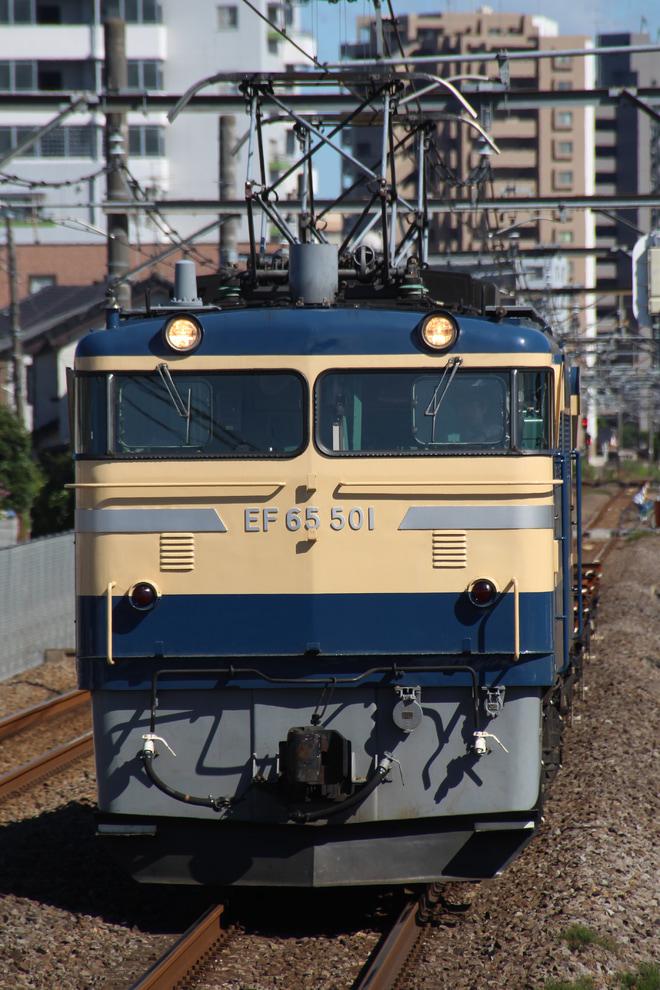 【JR東】EF65-501牽引 高崎操工臨