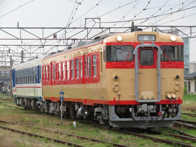 【JR東】キハ48 1533+キハ47 1514郡山総合車両センター出場