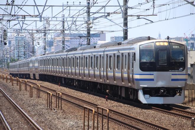 【JR東】E217系クラY-43編成+クラY-131編成使用 撮影試運転