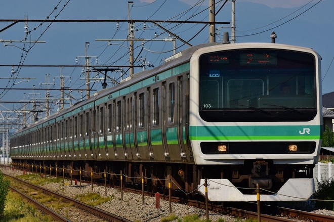 【JR東】E231系マト103編成長野総合車両センター入場
