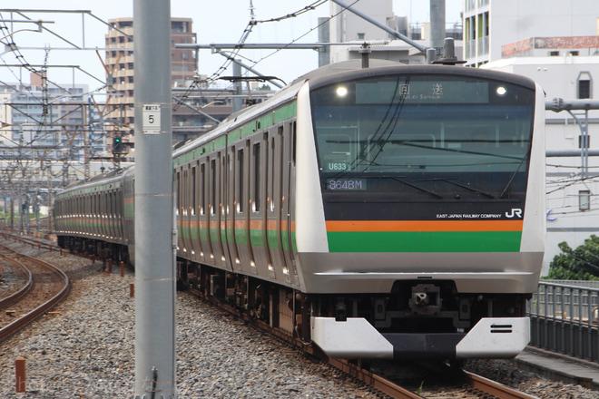 【JR東】E233系ヤマU633編成 東京総合車両センター入場