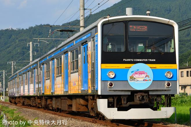 【富士急】6000系6002F「ラブライブ!サンシャイン!!」ラッピング列車