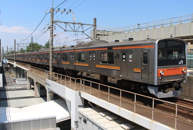 【JR東】205系5000番台M32編成 車輪転削回送