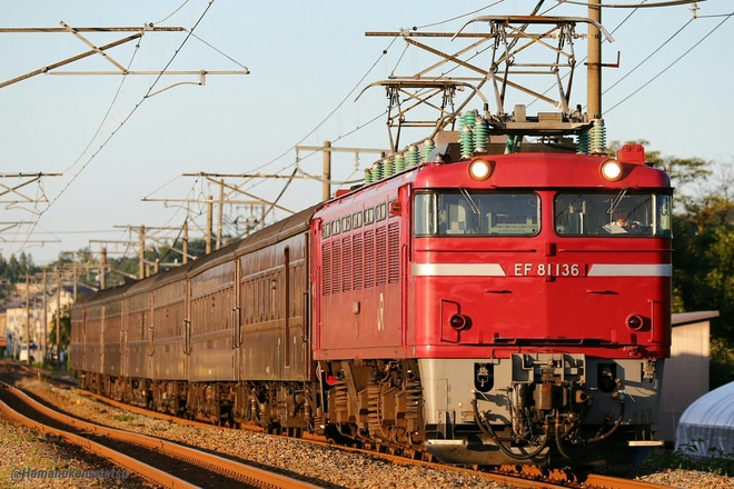 【JR東】EF81-136牽引の旧客返却回送