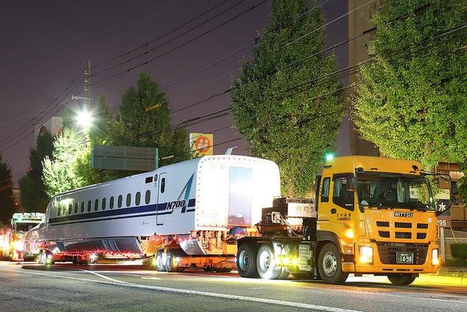 【JR西】N700A系F14編成陸送