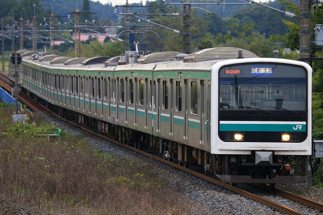【JR東】E501系K702編成郡山総合車両センター出場