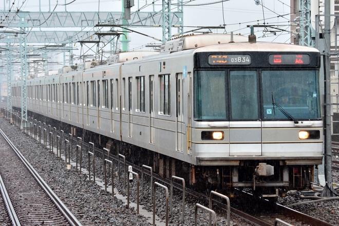 【メトロ】03系03-134F 北館林へ廃車回送