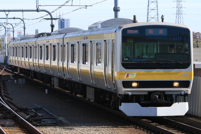 【JR東】E231系ミツB31編成武蔵小金井へ回送